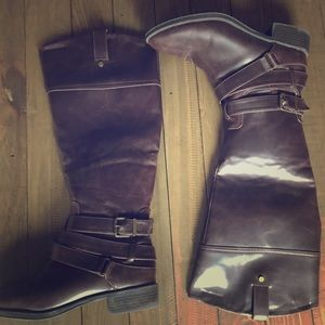 Everything must go! Brown Zipper Calf Boots